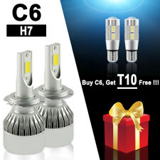 PHILIS COB H7 C6 7600LM 72W LED Car Headlight Kit Hi/Lo Turbo Light Bulbs 6000K