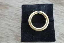 Designerring Spannring 14 Karat 585 Gold 7,2 g Gelbgold Brillant 0,20 CT W-VVSI