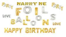 Feuille lettres ballons 40.6cm argenté et doré,Mariages,anniversaires,fêtes etc