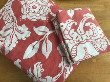 Pottery Barn Full Queen Duvet F/Q Duvet Cotton Coral Pink White Shams
