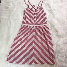 AMERICAN EAGLE Women's Striped Sundress Size S Chevron Pink White