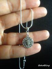 Necklace Silver Hand Fatima Hamsa Hippie  Surf Ethnic Boho Gypsy Folk N1034