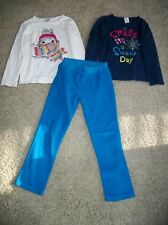Gymboree Kids Clothes Lot Size 6 White Blue Shirt Pants Snow Day All Wrapped Up
