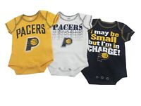 NBA Indiana Pacers Genuine Infant Baby 3 Piece Creeper Bodysuit Set New