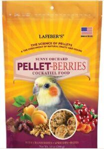 Lafeber PELLET BERRIES Cockatiel Parrot Food 10 oz Nutritious FRESH Fruit