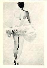 LARGE RARE Russian postcard A DANCER STANDING by Vladimir Lebedev