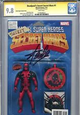 STAN LEE SIGNED DEADPOOL SECRET WARS #1 9.8 CGC ACTION FIGURE VARIANT Spider-man