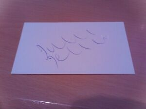 signed card of ex leicester  villa coventry leeds utd footballer julian joachim
