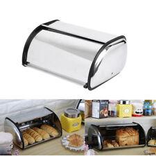 Stainless Steel Bread Bin Silver Bread Box Storage Bin Food Kitchen Container