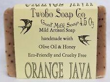 Orange Java Goat Milk Soap, FREE SHIPPING Handmade, cold process, coffee soap