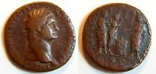 As 81-96 Ancient / Roman Coin Domitian H. vor Temple N.L.Opfernd Ss S +