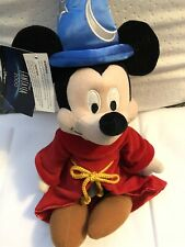 """Disney Fantasia 2000 The Sorcerer's Apprentice Mickey Mouse Doll 15 """"W/Tags"""