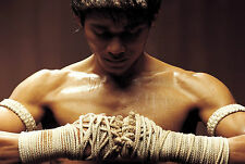 Framed Print - Muay Thai Fighter with Wraps (Sports Picture Poster MMA Boxing)