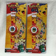 1 pcs Pokemon Pikachu Kid Digital Watch PROJECTION Projector 20 images + CHARM