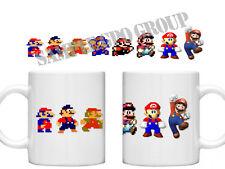Super Mario Bros Evolution Of Mario Brothers  Retro Gaming Gamers Mug Cup