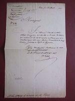 Document signé du comte de Vedel général né à Monaco