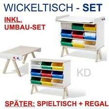 Famille Garage – SET Wickeltisch inkl. Umbauset – Richard Lampert Kindermöbel !