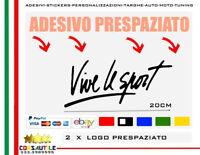 2 adesivo prespaziato vive le sport calligrafico vinile ritagliato senza fondo