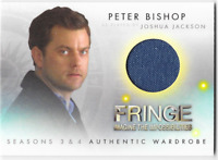 Fringe Seasons 3 & 4 Wardrobe Costume Relic Card Peter Bishop Joshua Jackson M16