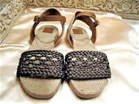 NEW TORY BURCH 'SOLEMAR' ESPADRILLE OLIVE ROYA SANDALS SHOES SZ: 7.5 M