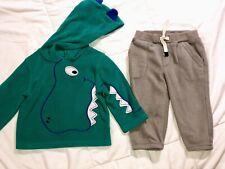 Gap Boys Size 12 18 Months Fall Winter Outfit 3D Dinosaur Hoodie Jumping Beans
