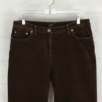 Brooks Brothers womens size 8 stretch solid brown mid rise corduroy pants EUC