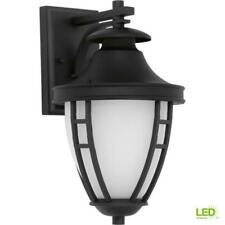Progress Lighting Fairview Collection 1-Light Outdoor Textured Black LED Wall La