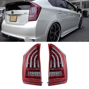 Toyota Prius Hybrid XW30 LED Tail Lights Valenti Sequential Clear Red 10-15