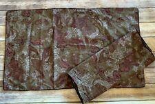 Ralph Lauren Hayden Paisley King Size Pillow Shams Brown Velvet TrimNew