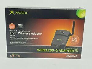 Microsoft Wireless-G Xbox Adapter For Xbox Original Black Network New