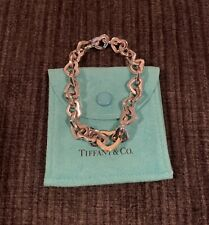 Tiffany & Co. Heart Link Bracelet 18k Yellow Gold and Silver Rare Discontinued