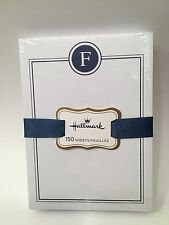 HALLMARK Letter F Initial Monogram 150 Sheet Note Pad Notes Notepad Paper NEW