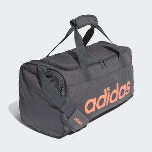 Adidas FM6747 Linear Logo Duffel Bag Gray