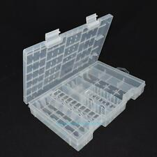 Multi-functional Plastic Battery Storage Box Holder Container Transparent