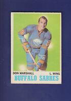 Don Marshall 1970-71 O-PEE-CHEE Hockey #129 (EX) Buffalo Sabres