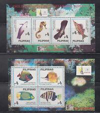 Philippine Stamps 1996 Marine Aquarium Fishes II ss (2) OVPT  China'96 Exhibit M