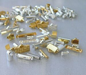 Cord End Ribbon End Mix Coil Bar Glue In Crimp End Fold Over Chain Connector 50