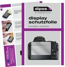 6x Canon EOS 200D Schutzfolie klar Displayschutzfolie Folie Display Schutz dipos