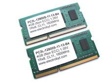 Electrobyt PC3L-12800S-11-13-B4 8GB (2x4GB Kit) 1Rx8 SODIMM DDR3 Laptop Memory