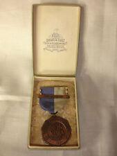 1938 Decus Et Praesidium Medal Ribbon Dieges & Clust Jewelers With Box Military