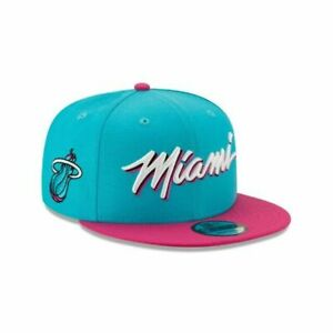 Miami Heat Vice New Era 9FIFTY NBA City Edition Snapback Cap South Beach Hat 950