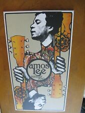 Pearl Rachinsky Amos Lee Printed Wood Panel Tour Poster Summer 2010