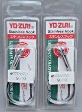 Yo-zuri Stainless Steel Big Game Salmon Shark Cod Fishing Hooks Size 9/0 2packs