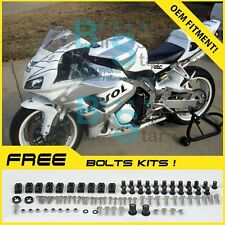White Glossy INJECTION Fairing Kit Fit Honda CBR1000RR 2006-2007 103 A6