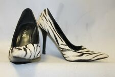 Ladies White & Black Fur Animal Shoes with Leather inner 36 Uk 3 Aldo Designer