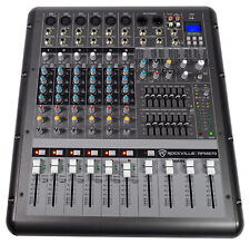 Rockville RPM870 8 Channel 6000w Powered Mixer w/USB, Effects, 8 XDR2 Mic Pres