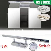 7W SMD LED Mirror Light Wall Saving Spin Lamp Bedroom Bathroom Front Lighting