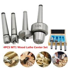 4pcs Mt1 Wood Lathe Center Set Live Center Drive Spur Cup Mt1 Arbor Withcase Tool