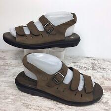 Propet Breeze Walker Brown Open Toe Slingback Comfort Sandals Size 9 W (D)