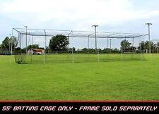 Cimarron 55'L x 14'W x 12'H #24 Twisted Poly Baseball/Softball Batting Cage Net